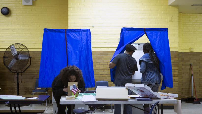 US-Wahlergebnis: Da war der Wahlausgang noch offen: ein Wahllokal in Philadelphia im Bundesstaat Pennsylvania.