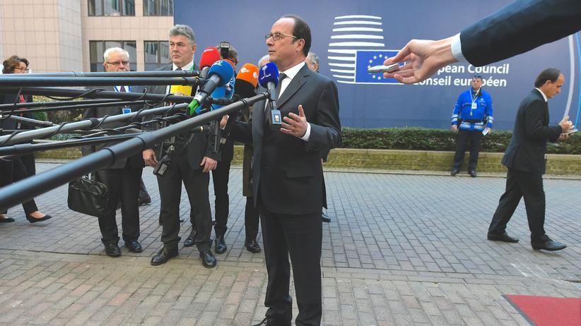 EU-Gipfel: Der französische Präsident Hollande während des EU-Gipfels in Brüssel