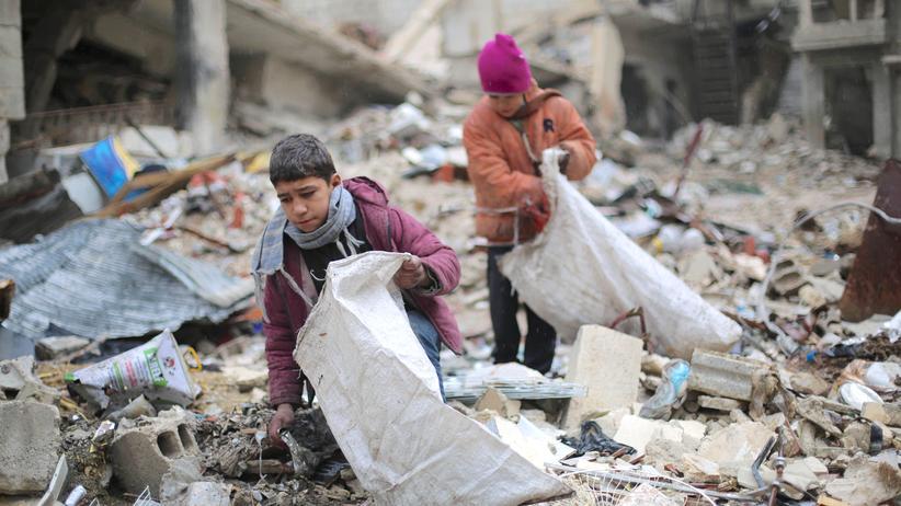 Syrien-Krieg: Kinder in Ost-Aleppo