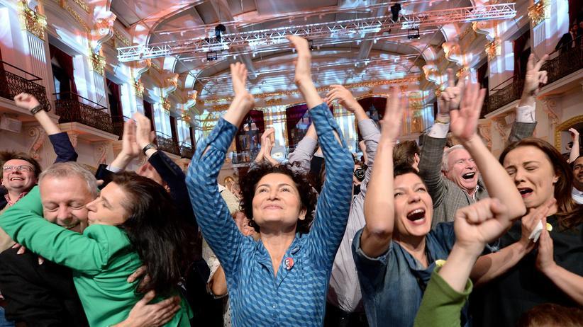 Wahlergebnis: Freude bei den Anhängern des siegreichen Alexander van Bellen.