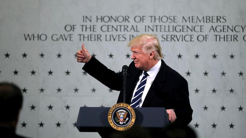 Donald Trump im Hauptquartier der CIA