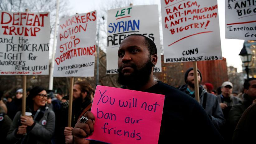 Einreisestopp für Muslime: Demonstration in New York gegen die Einwanderungspolitik von Donald Trump