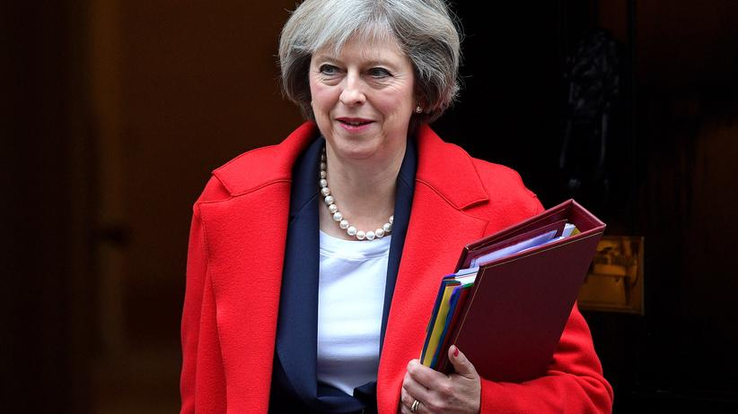 Großbritannien: Die britische Premierministerin Theresa May in London