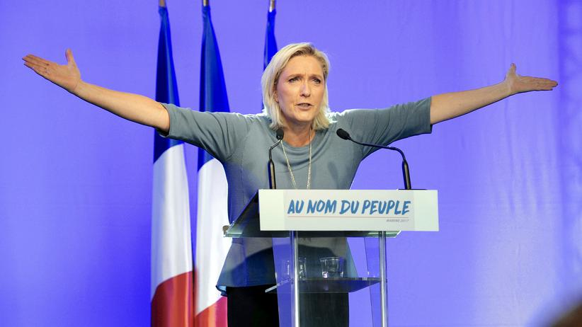Präsidentschaftswahl in Frankreich: Marine Le Pen bei einer Wahlkampfveranstaltung