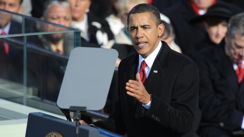 Antrittsrede: US-Präsident Barack Obama bei seiner Rede zur Vereidigung 2009 in Washington.