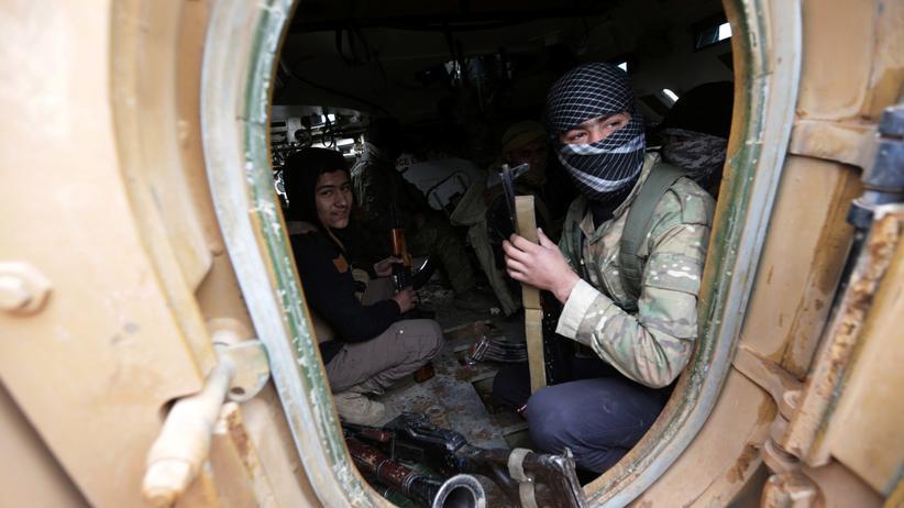 Krieg in Syrien: Aufständische im nordsyrischen Al-Bab