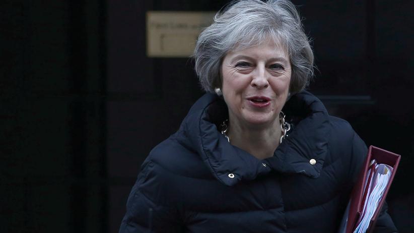 Die britische Regierungschefin Theresa May kommt nach Washington.