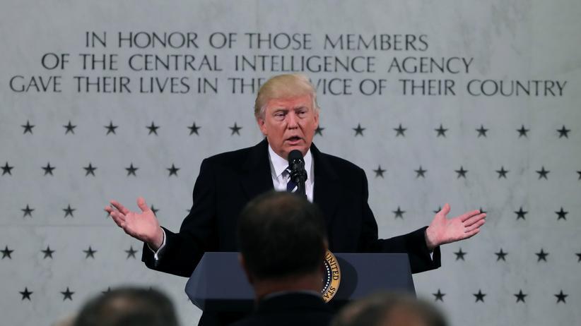 USA: Trump vor dem Hauptquartier der CIA