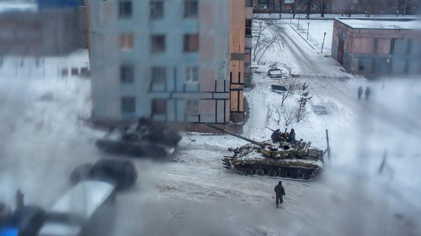Awdijiwka: Ukrainische Panzer in Awdijiwka