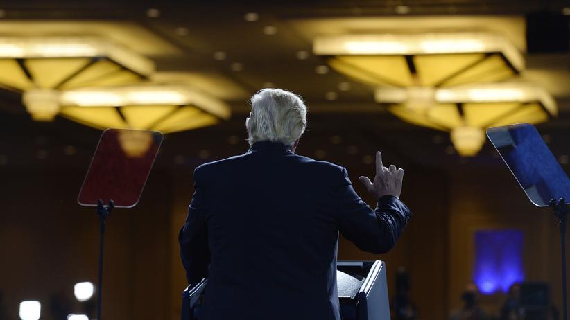 US-Präsident: US-Präsident Donald Trump während seiner Rede auf der Conservative Political Action Conference (CPAC) in Maryland