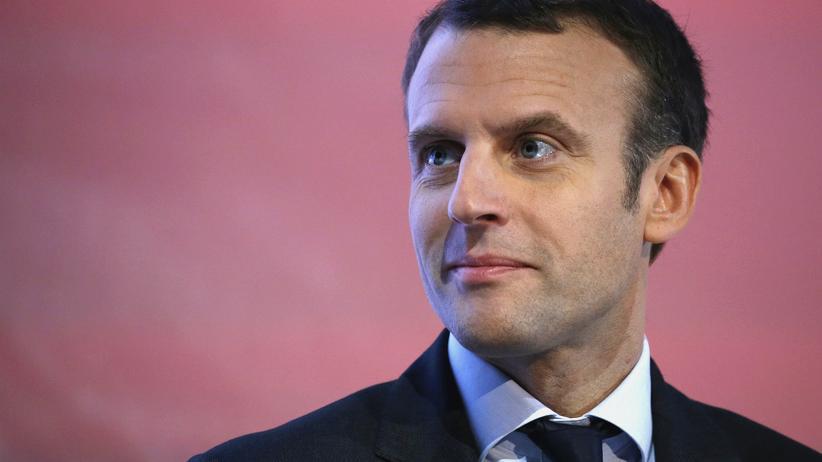 Fake-News: Emanuel Macron, französischer Präsidentschaftskandidat für die von ihm gegründete Bewegung En Marche!