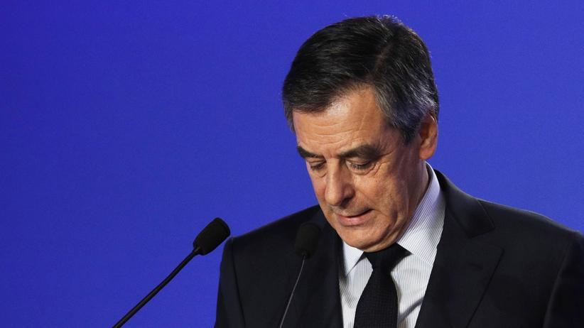 François Fillon: François Fillon bei seiner Pressekonferenz