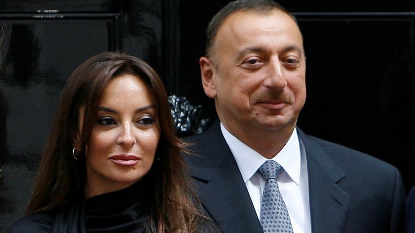 Mehriban Alijewa : Der aserbaidschanische Präsident Ilham Alijew und die Erste Vizepräsidentin Mehriban Alijewa