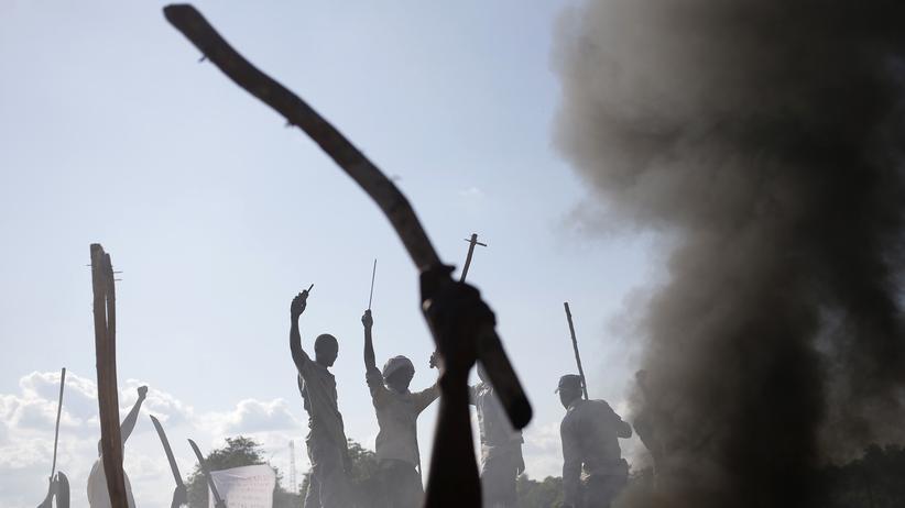 Zentralafrikanische Republik: Ein Großteil der Zentralafrikanischen Repblik – im Bild die Handelsstadt Bambari – ist seit Jahren unter der Kontrolle bewaffneter Gruppen (Archiv).