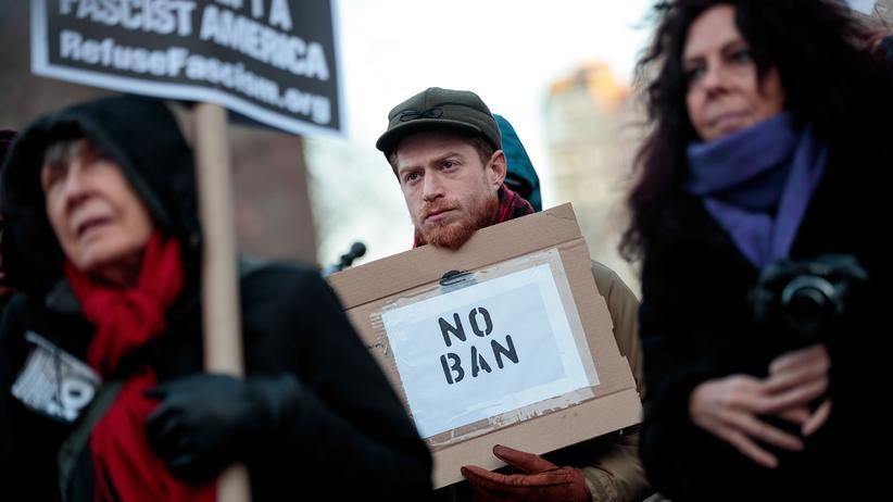Donald Trump: Proteste gegen das überarbeitete Einreiseverbot der US-Regierung in New York