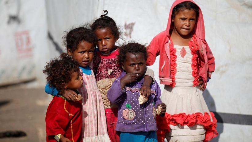 Unicef: Kinder in einem Flüchtlingscamp nahe der jemenitischen Hauptstadt Sanaa