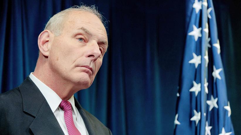John Kelly während einer Pressekonferenz in Washington