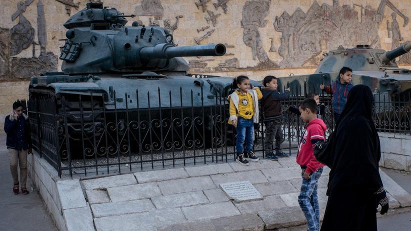 Ägypten: Panzer, ausgestellt am Militärmuseum in Kairo