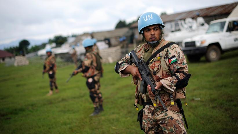 Kongo: Blauhelmsoldaten der UN-Friedensmission im Kongo