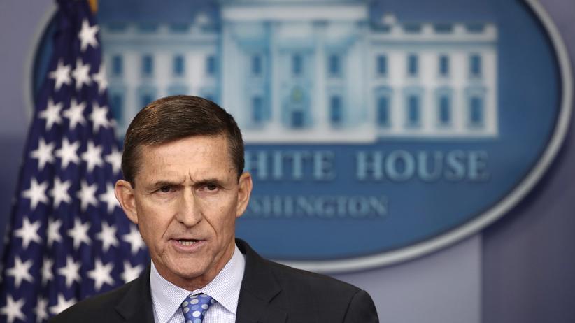 US-Kongress: Da hatte er im Weißen Haus noch etwas zu sagen: der damalige Nationale Sicherheitsberater Flynn Anfang Februar bei einer Pressekonferenz zum Thema Iran.