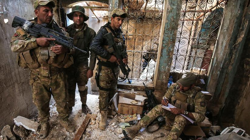 Mossul: Irakische Kräfte in der Altstadt von West-Mossul
