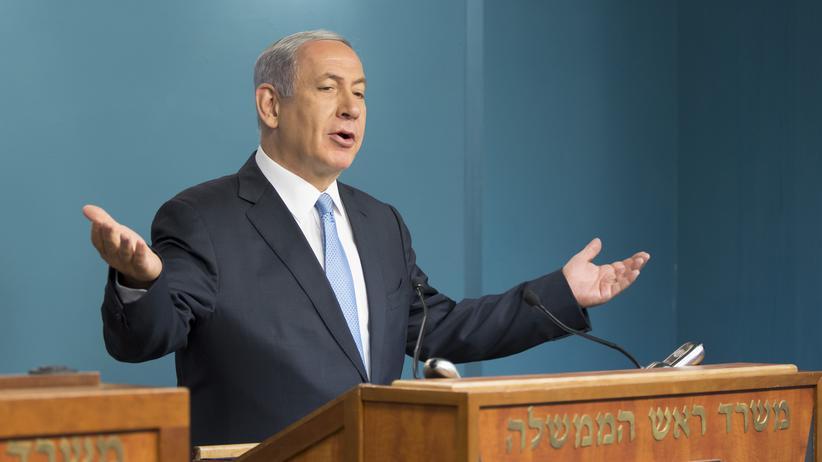 Israel und Russland: Benjamin Netanjahu während einer Pressekonferenz am 31.3.2017.