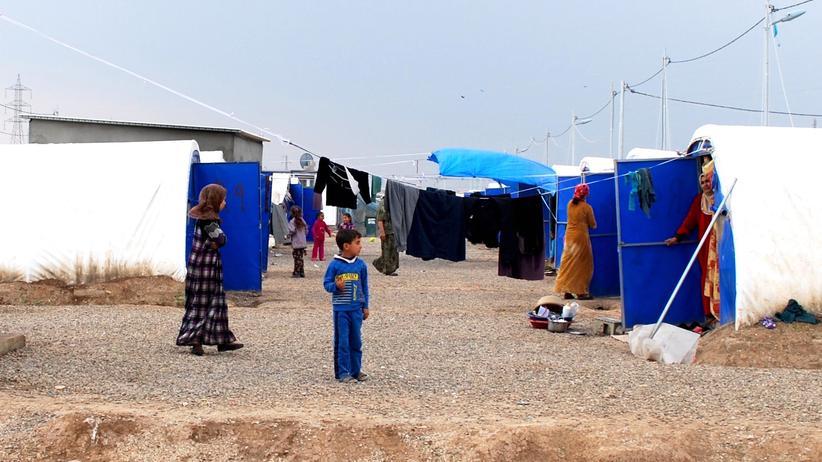 Mossul: Im Abschnitt für die Neuankömmlinge aus West-Mossul im Flüchtlingslager von Al-Khazir, Nordirak