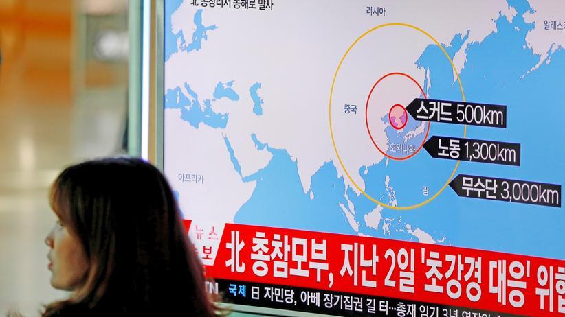 Der Raketentest fällt mit einem Militärmanöver Südkoreas und der USA zusammen.