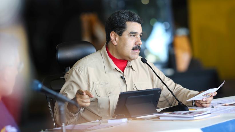 Organisation Amerikanischer Staaten: Venezuelas Präsident Nicolás Maduro bei einem Treffen mit Stahlarbeitern in Puerto Ordaz (Archiv)
