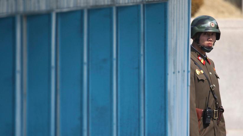 Rex Tillerson: Ein nordkoreanischer Soldat an der Grenze zu Südkorea