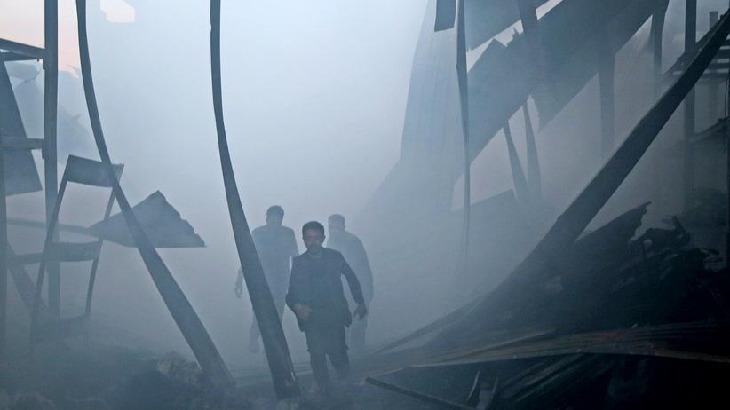 Syrien: Von Frieden ist Syrien weit entfernt: In den vergangenen Tagen kam es auch in der Hauptstadt Damaskus zu heftigen Kämpfen.