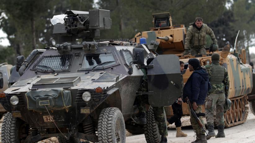 Syrien: Türkische Soldaten und Kämpfer der Freien Syrischen Armee im Norden Syriens
