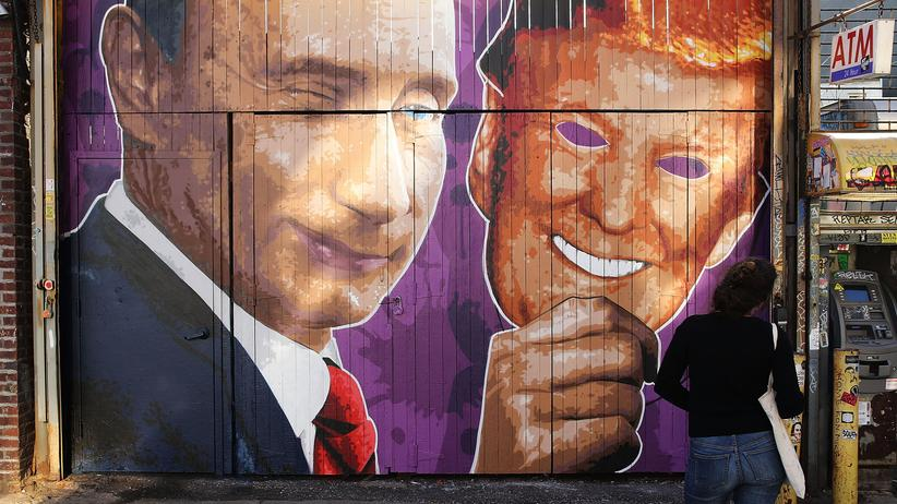 Donald Trump: Street-Art in Brooklyn, New York
