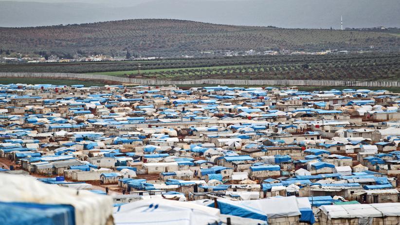 Syrien: Ein Flüchtlingslager in der syrischen Provinz Idlib nahe der türkischen Grenze