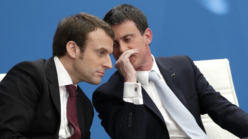 Manuel Valls: Emmanuel Macron (links) kann auf die Unterstützung von Manuel Valls bauen.