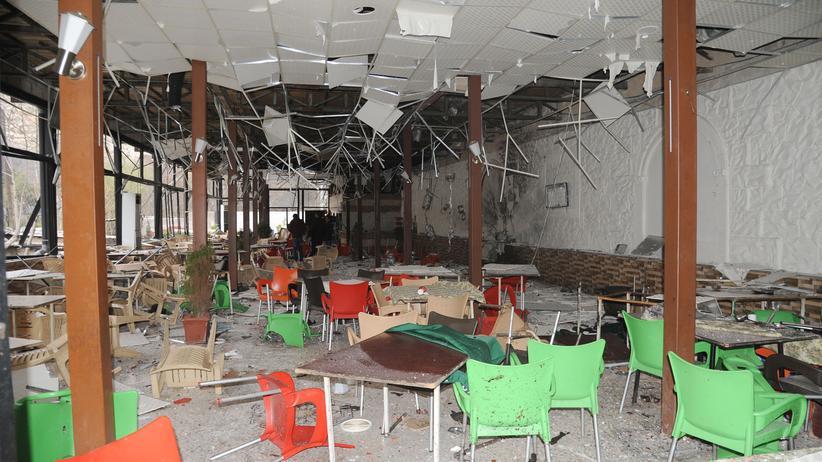 """""""Islamischer Staat"""": Zerstörungen nach dem Doppelanschlag am 15. März 2017 in Damaskus"""
