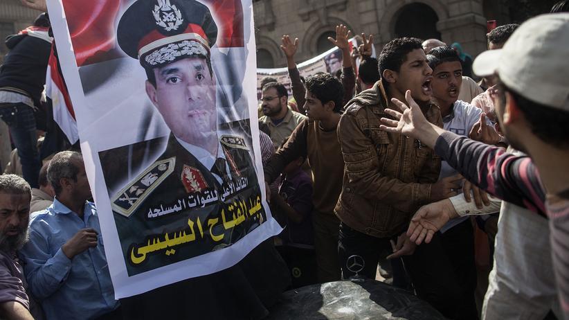 Abel Fattah al-Sissi: Anhänger von Präsident Abdel Fattah al-Sissi in Kairo