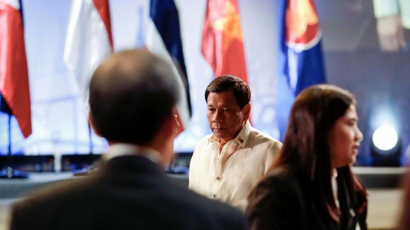 Asean-Gipfel: Der philippinische Präsident und Gastgeber Rodrigo Duterte auf dem Asean-Gipfel in Manila.