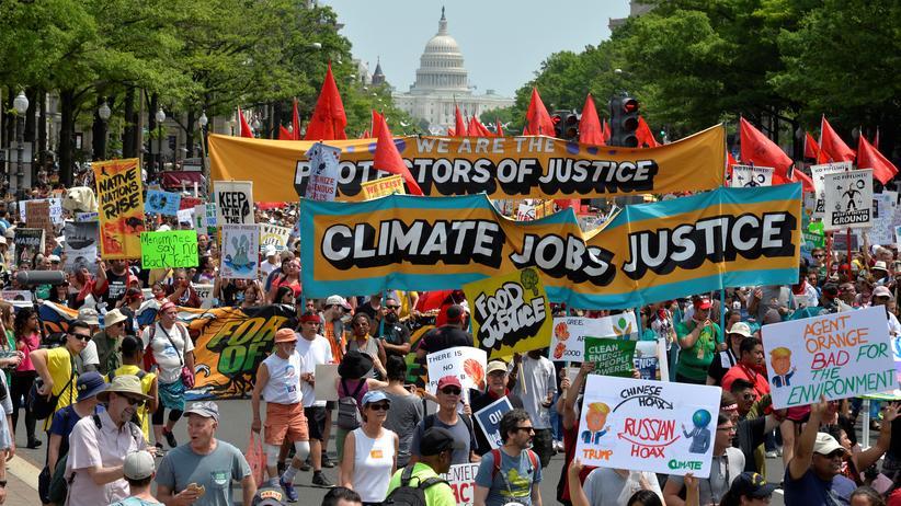 USA: Demonstration für Klimaschutz in Washington, D.C.