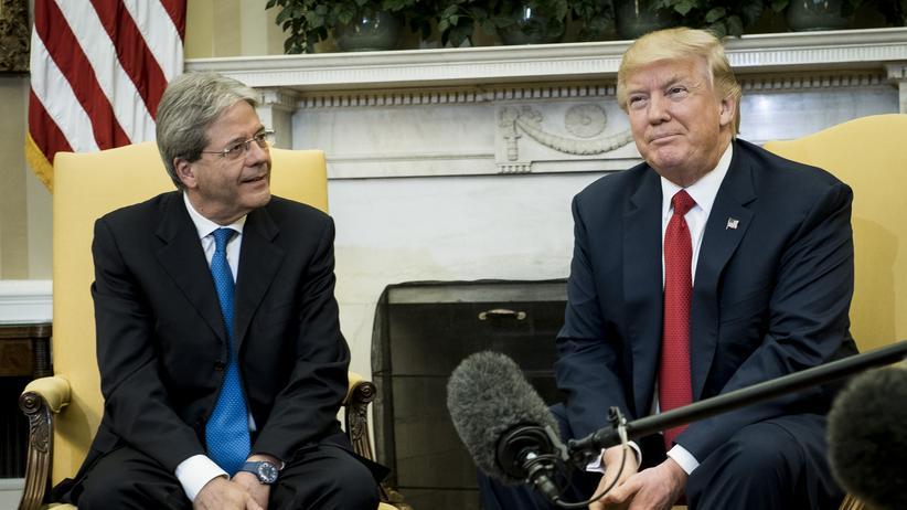 Donald Trump und Paolo Gentiloni