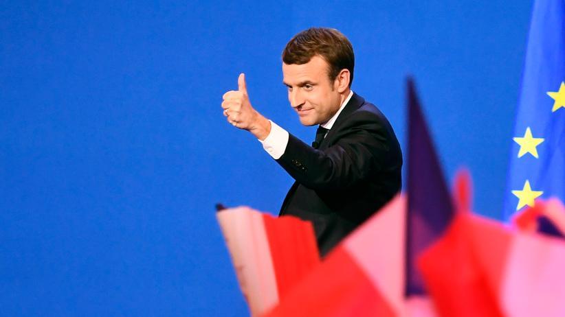 EU: Emmanuel Macron am Wahlabend