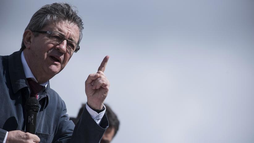 Frankreich: Der in der ersten Wahlrunde ausgeschiedene Präsidentschaftskandidat Jean Luc Mélenchon