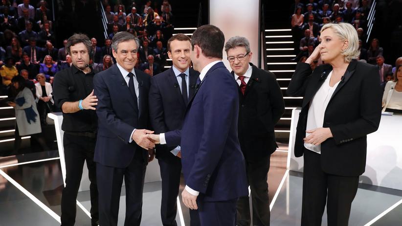 Präsidentschaftswahl in Frankreich: Das TV-Duell vor der französischen Präsidentenwahl nutzten vor allem die Außenseiter für ihren großen Auftritt.