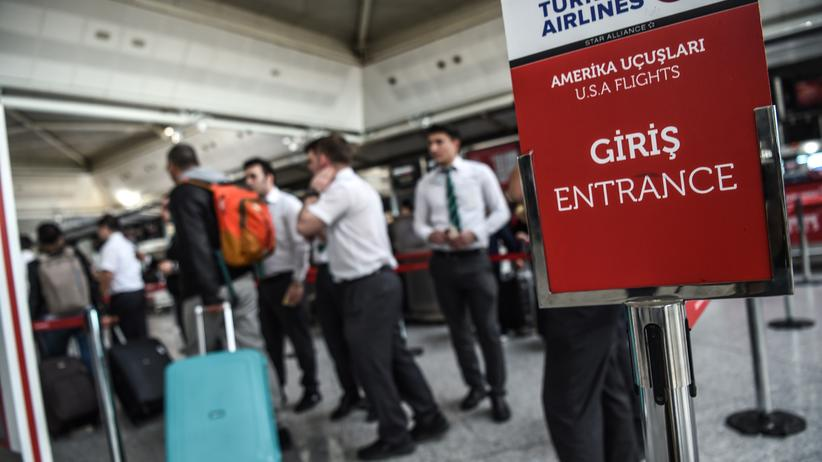 Türkei: Sicherheitskontrolle am Flughafen Istanbul