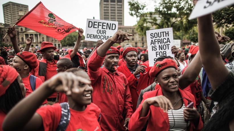 Südafrika: Protest in Pretoria gegen den südafrikanischen Präsidenten Jacob Zuma