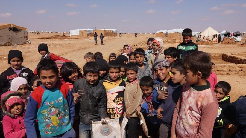 Flüchtlinge: Kinder im Lager von Rukban