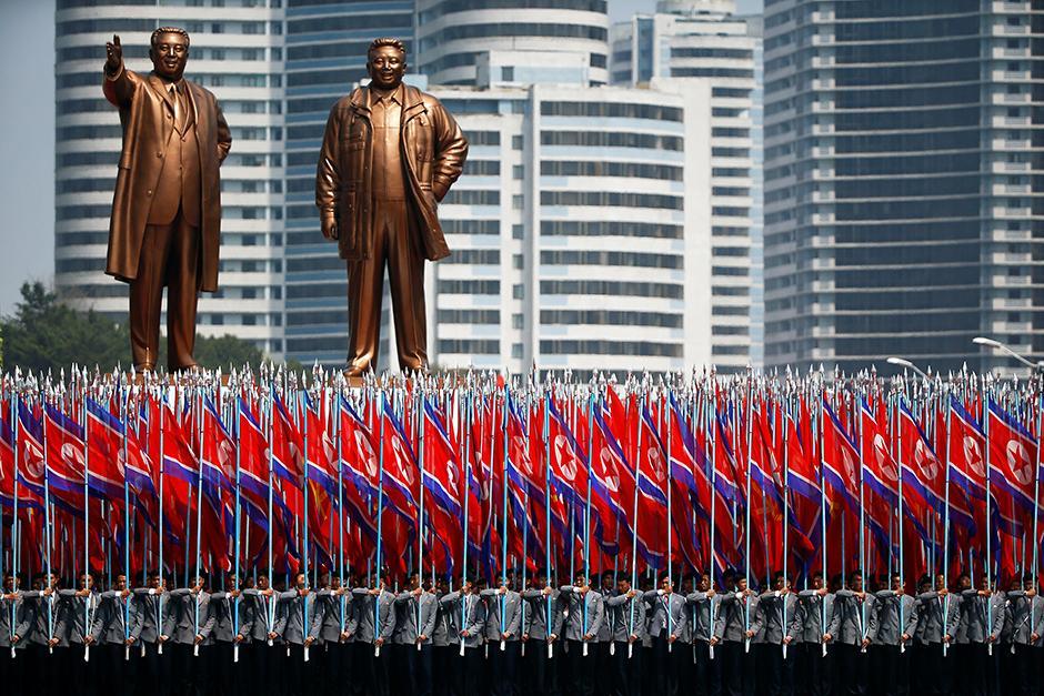 Nordkorea, Militärparade, Pjöngjang