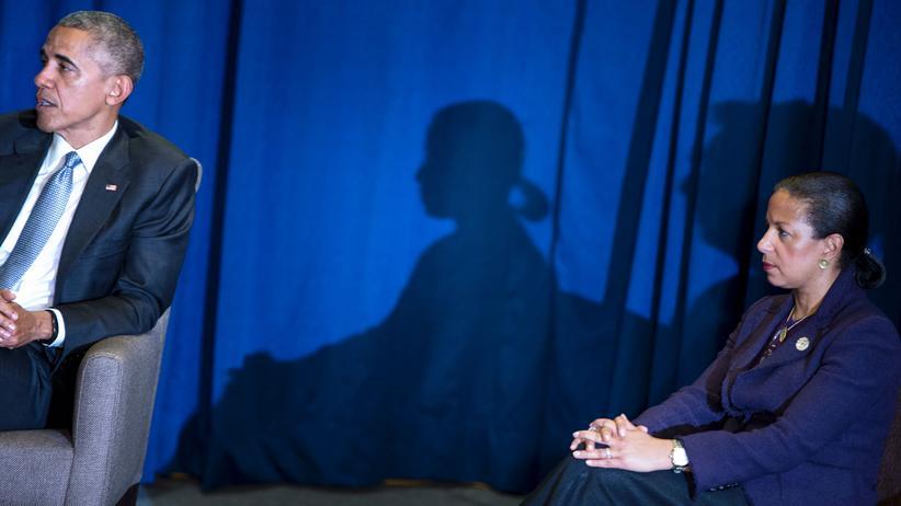 Abhörvorwürfe: Der frühere US-Präsident Barack Obama (l.) und seine nationale Sicherheitsberaterin Susan Rice während einer Konferenz in Peru im November 2016