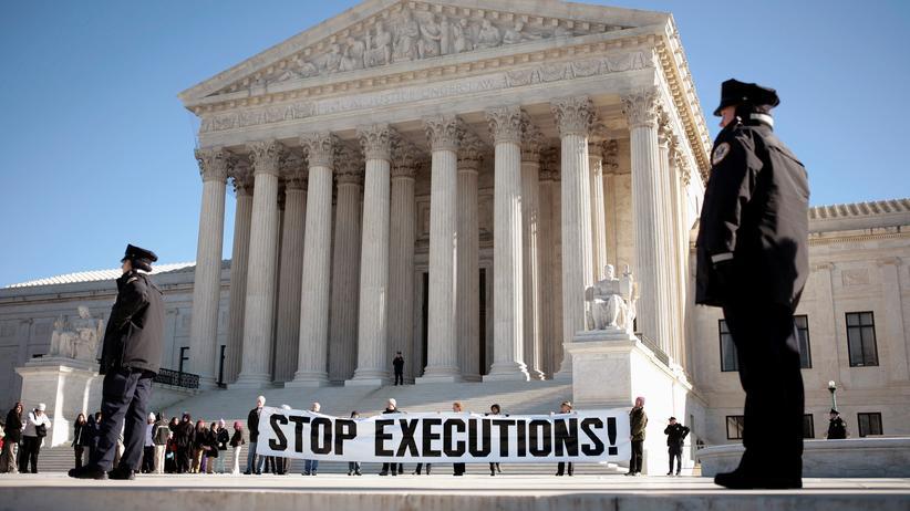 Todesstrafe: Protest gegen die Todesstrafe vor dem Supreme Court in Washington, D.C.