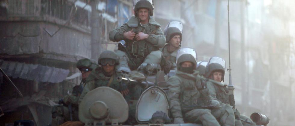 Russische Soldaten in Aleppo